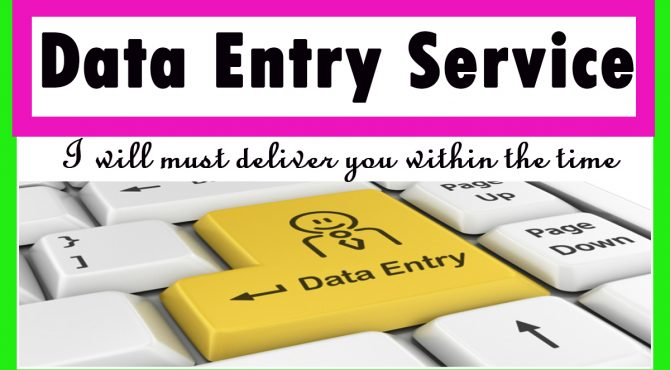 I will complete any type of data entry on ms word or excel