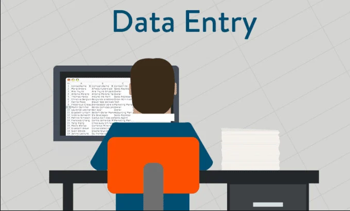 copy paste and data entry typing