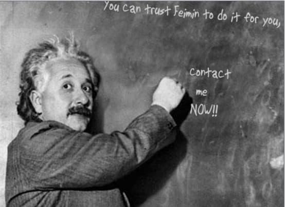 I will make einstein write 1 message on blackboard